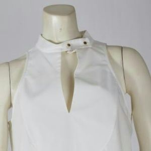 C/MEO COLLECTIVE White Sleeveless Top Blouse